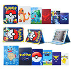 Cute Pokemon Leather Smart Stand Case Cover For Apple Ipad 2 3 4 Mini 4 Air 5 6