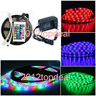 5M 3528 RGB 300Led SMD Flexible Light Strip IP65 +24key IR+ EU/US 12V 2A Power