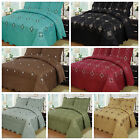 3Pcs Embroidery Quilts Bedspreads Set Bedding Coverlet Set Queen King Size, Emma image