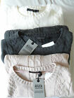 NEW WOMANS LADIES WOOL BLEND CHUNKY CABLE KNIT PULLOVER JUMPER WHITE PINK GREY