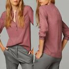 Women\'s Ladies Summer Loose Long Sleeve Casual Blouse Shirt Tops Fashion Blouse