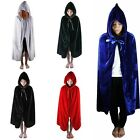 Halloween Vampire Kids Cape Costumes Velvet Hooded Cloak Wicca Medieval Fancy