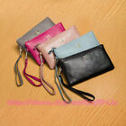 Women Lady's Fashion Genuine Leather Zipper Handbag Coin Purse Clutch Wallet