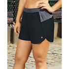 Champion Women's Plus Size Sport Shorts 5 - Black/Medium Grey - 1XL-4XL