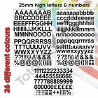 25mm Self Adhesive Vinyl Sticker Letters and Numbers  - Upper & Lower case