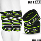 Weight Lifting Knee Wraps Wrist Support Cotton Bandage Straps Pair Set DBXGEAR