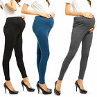 Pregnant Womens Full Ankle Length Over Bump Leggings Adjustable Maternity Pants