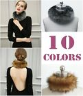 Women High-Grade Party Faux Fur Collar Scarf Wrap Warmer Neck Ring Cape Shawl