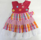 Youngland 24 Months Pink Plaid Short Sleeve Dress Baby Girl Clothing