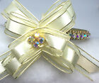Sugarlicious Pets ™~Golden Christmas Bow~Crystal Rhinestone Dog Cat Collar USA