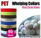 BREEDERS Bulk 50 pack 100 pack Whelping Collars PU Leather Puppy Dog Kitten Cat