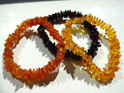 Lot-3 Genuine Chips Beads Baltic Amber Bracelets - Choose your color!!!