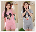 Hot Mice Cotton Women Girl Sleepwear Pajama Set Nightwear Shirt & Shorts M-2XL