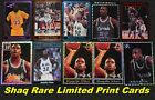 Shaquille O'Neal 10 Different RARE Foil Limited-Print Cards * 10 Mail Free in US