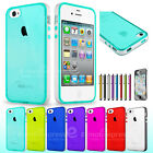 Cute Clear Silicone TPU Case Cover Skin for Apple iPhone 4 4S /Screen Protector