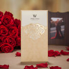 Gold Wedding Invitation Anniversary Pocket Card Kit with Free Personalized Print