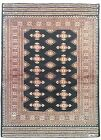 4x6 Cross Design Wool & Silk Jaldar Traditional Authentic Handmade Black Rug