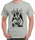 Satan Stone-Grey T-Shirt Devil Satanic Baphomet Pentagram Dark Lord Magic Pagan