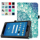 AT&T Trek 2 HD 8-inch 4G LTE ( Model 6461A) PU Leather Folio Stand Case Cover