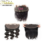 "13""x4"" Ear To Ear Lace Frontals Malaysian Curly Body Wave Straight Hair Frontals"