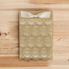 Gold Wedding Invitation Engagement Birthday Party Card Kit with Envelope,Sticker