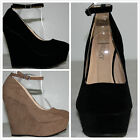 Kyпить Brand New Women's Round Toe Ankle Strap High Heel Platform Wedge Pumps Shoes на еВаy.соm