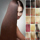 Cheap Sale Clip In 100% Remy Real Human Hair Extensions Full Head  Black Blonde