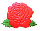 8 Rose Die Cuts With Leaves, Mother's Day, Anniversary, Choose Colour & Card!