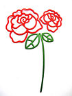 4 Roses Die Cuts, Mother's Day, Anniversary, Psm. Choose Colour & Card!