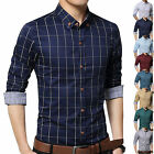 Camicia Uomo maniche lunghe Fashion 7Colors SLim-Fit Men Long sleeve Shirt c191a