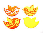 18 Bird Die Cuts, 6 Sets Of 3. Easter, Birthday/Thank You. Choose Colour & Card!