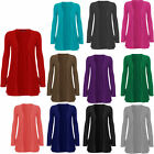 New Womens Ladies Long Sleeve Boyfriend  Pocket Cardigans Tops Plus Size 16-26