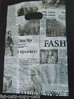 ECONOMY FASHION NEWSPAPER PRINT CARRIER BAGS 40+ PERPACK 21cmx15cm SHOPS MARKETS