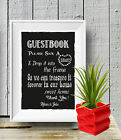 Guest Book Alternative Please Sign Mr Mrs Chalk Board print Style Vintage aa113