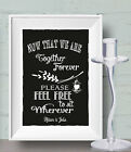 Seating Plan Sign Together Forever Chalk Board print Style Vintage aa106 Custom