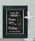 Social Media Sign Share Wedding Sign Chalk Board print Style Vintage aa104