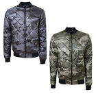 Smith And Jones Mens Romanesque Camouflage MA1 Diamond Padded Camo Bomber Jacket