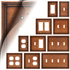 Wall Switch Plate Cover Ruston Sponged Copper Outlet Toggle Decora Rocker Steel