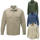 Mens CRAGHOPPERS Casual Buttoned Kiwi Safari Pocket Long Sleeve Shirt Size S-2XL