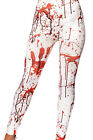 Smiffy's Adult Horror Leggings Blood Stained Zombie Halloween Trousers