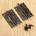 2/10Pcs Antique Bronze Cupboard Jewelry Box Hinge Door Furniture Wood Case Hinge