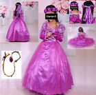 Rapunzel Vestito Carnevale Maschera Tangled Cosplay Girl Dress up RA001DIR