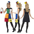 Smiffy's Adult Licenced Rubik's Cube Fancy Dress Retro Costume
