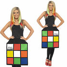 Smiffy's Adult 3D Rubik's Costume Fancy Dress Outfit