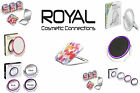 MIRROR TRAVEL BUTTERFLY CIRCULAR SWIVEL MAKE UP COMPACT LIGHTED ROYAL COSMETIC