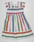 NEW JOULES  DRESS short SLEEVE white blue pink green stripe  AGE 5 7 8 YEARS