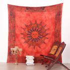 Queen Indian Sun Zodiac Bedspread Tapestry Wall Hanging Hippie bohemian Throw