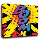 Boom Roy Lichtenstein Style Abstract Pop Art Canvas Print Various Sizes