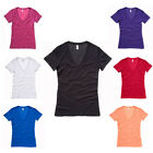 New BELLA CANVAS Womens Ladies Jersey Deep V Neck T Shirt in 7 Colours S - XL