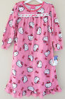 Hello Kitty 4T Pink Printed Long Sleeve Night Gown Toddler Girl Clothes Pajamas